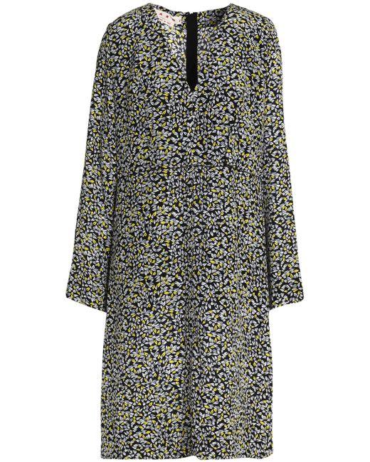 Marni - Black Printed Silk Dress - Lyst