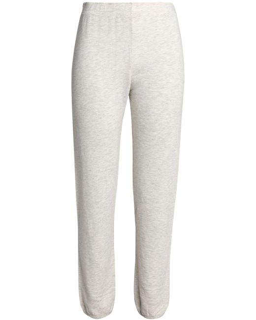 Monrow - Gray French Cotton-blend Terry Track Pants - Lyst