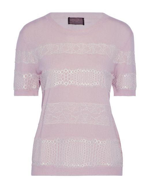 Giambattista Valli - Purple Lace-appliquéd Cashmere Sweater - Lyst