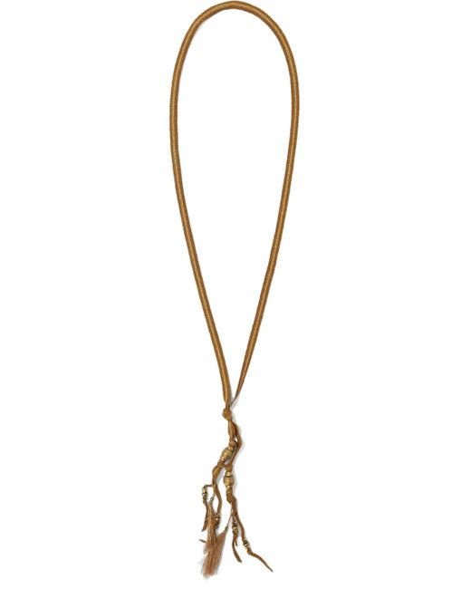 Chan Luu - Tasseled Cord And Bead Necklace Brown - Lyst