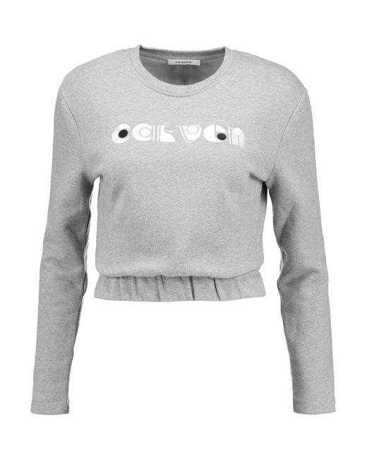 Carven   Gray Appliquéd Cotton Sweatshirt   Lyst