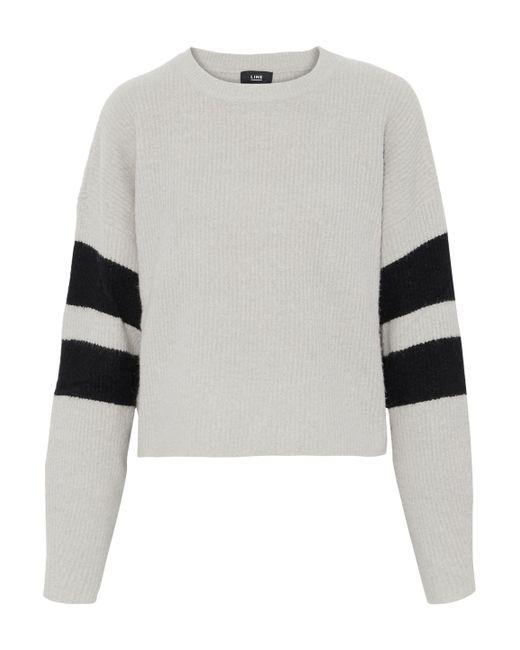 Line - Gray Intarsia Bouclé-knit Sweater - Lyst
