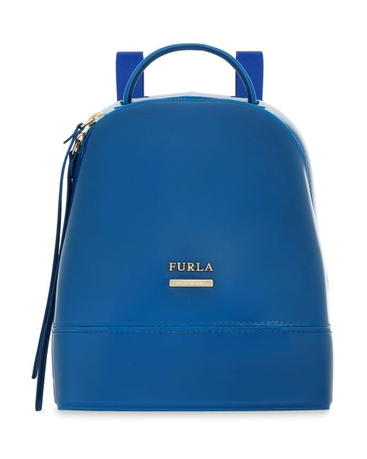 Furla - Leather-trimmed Pvc Backpack Bright Blue - Lyst