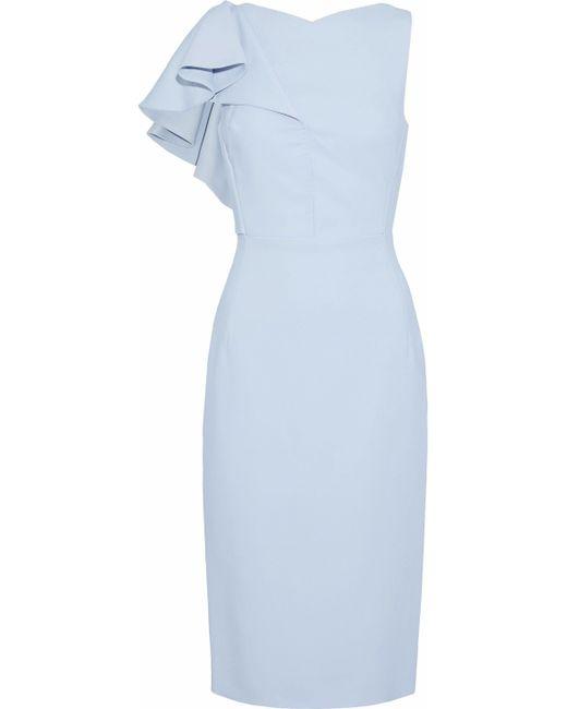 Antonio Berardi - Ruffled Cady Dress Sky Blue - Lyst