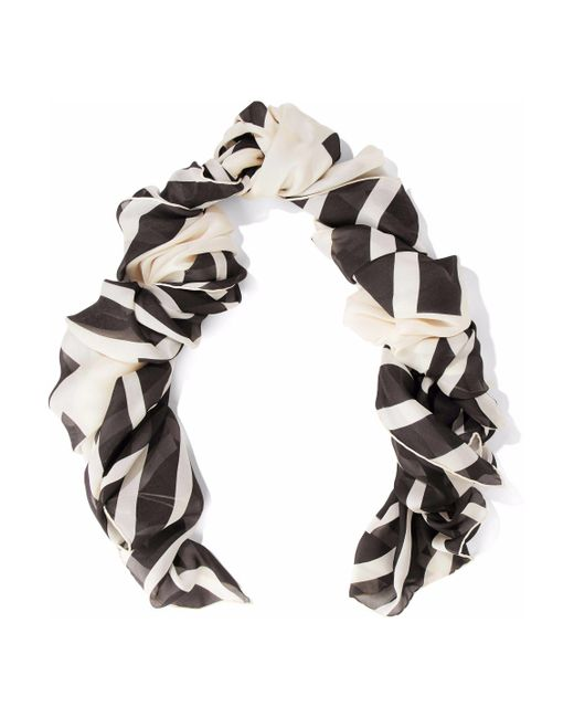 Valentino - White Printed Silk Scarf - Lyst