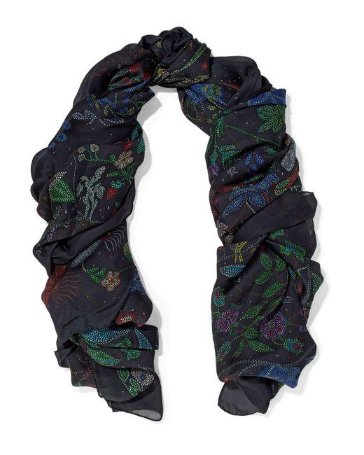 Valentino - Black Printed Silk Scarf - Lyst