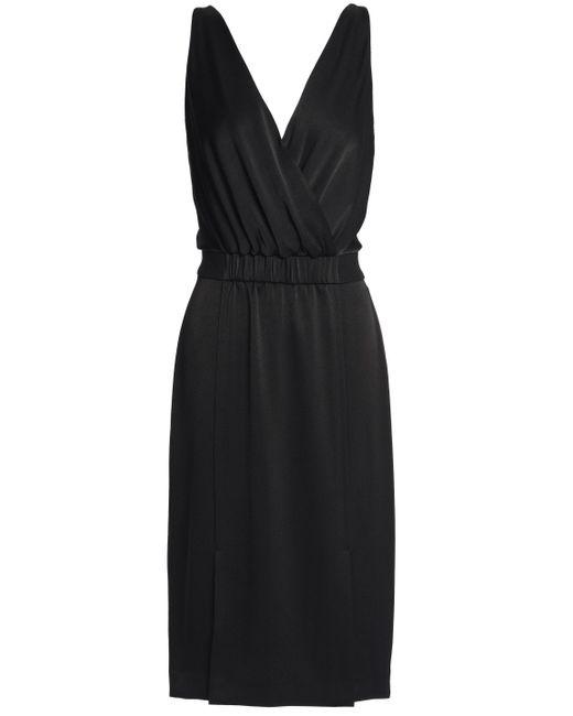 Rachel Zoe - Black Norah Wrap-effect Satin Dress - Lyst