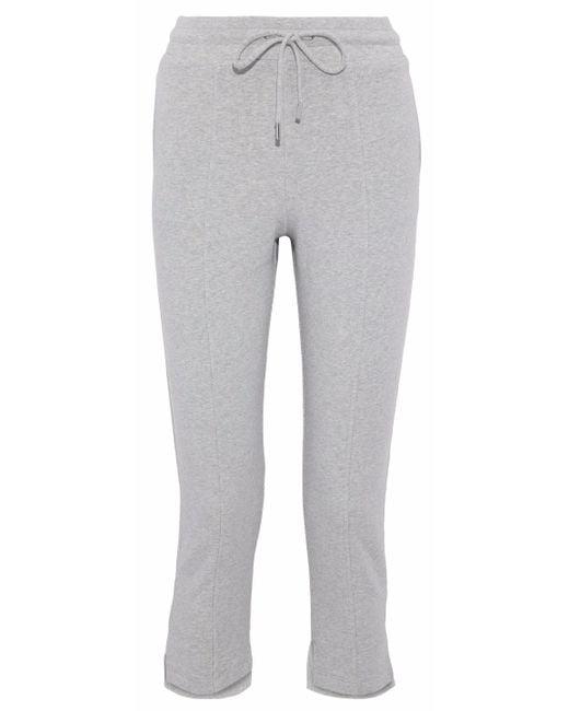 Cushnie et Ochs - Gray Amaris Cropped Mélange Fleece Track Pants - Lyst