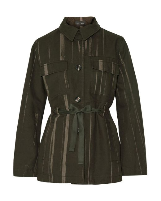 Proenza Schouler | Printed Cotton-canvas Jacket Army Green | Lyst