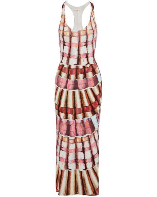 Mara Hoffman - Woman Printed Modal-blend Maxi Dress Pink Size L - Lyst