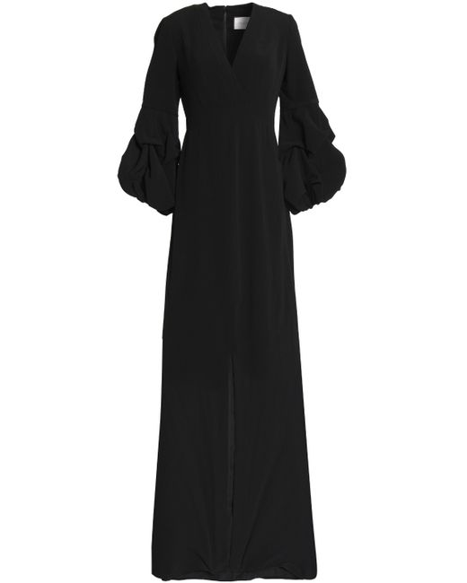 Alexis - Black Nova Wrap-effect Crepe Maxi Dress - Lyst