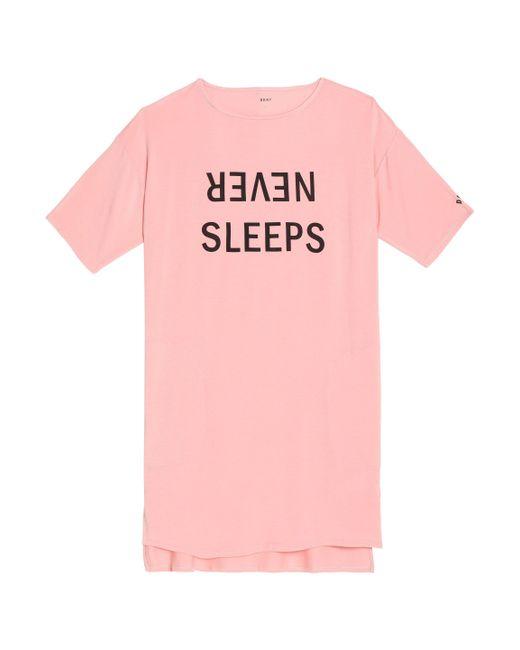 DKNY - Pink Printed Modal-blend Jersey Nightdress - Lyst