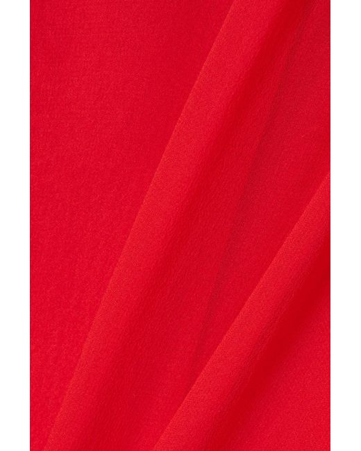 67e6122689c Reem Acra Woman Cape-effect Silk-chiffon Jumpsuit Red in Red - Save ...