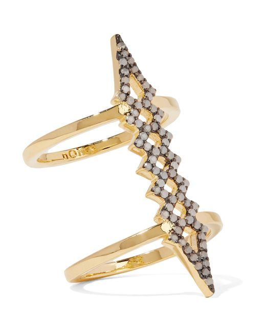 Noir Jewelry | Metallic Herron Gold-plated Opal Ring | Lyst