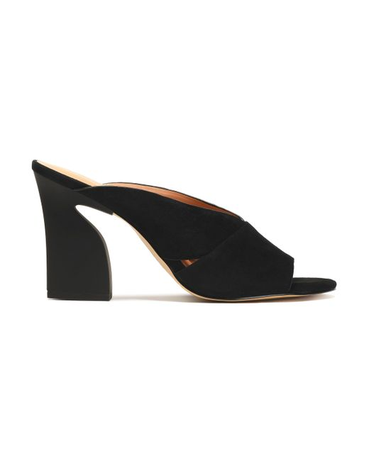 Halston Heritage - Black Suede Sandals - Lyst