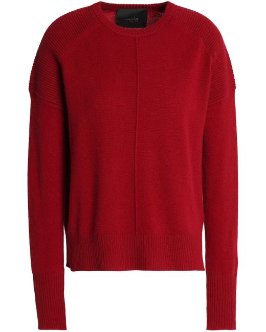 Maje - Red Matisse Mélange Cashmere Sweater - Lyst