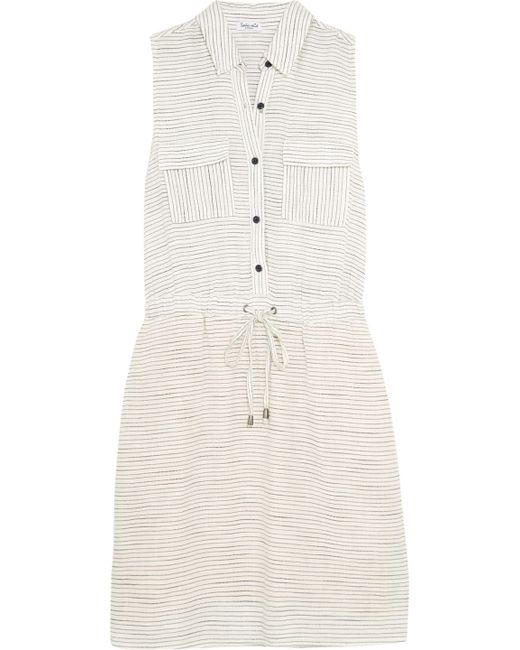 Splendid - Gray Marina Striped Woven Shirt Dress - Lyst