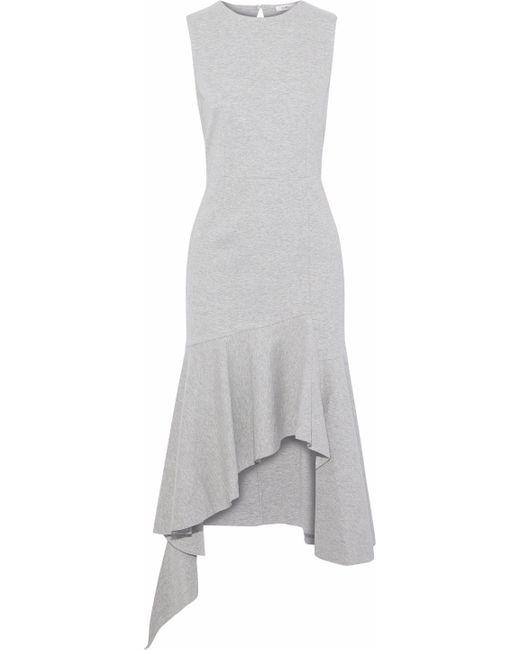 Goen.J - Open-back Asymmetric Cotton Dress Light Gray - Lyst