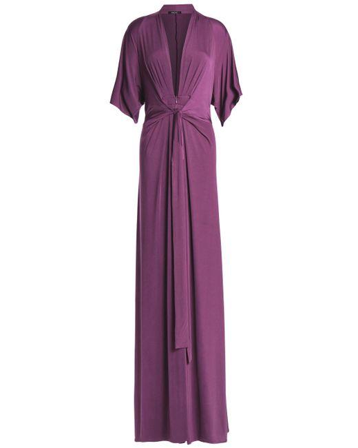 Raoul - Purple Issa Draped Stretch-jersey Maxi Dress - Lyst