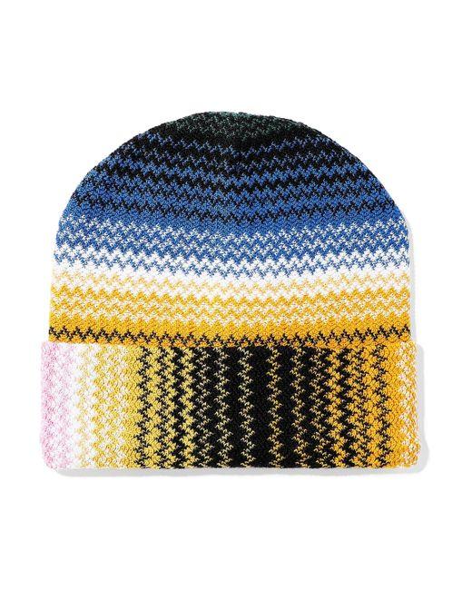 eec70dde406 Lyst - Missoni Woman Crochet-knit Wool-blend Beanie Pink in Pink