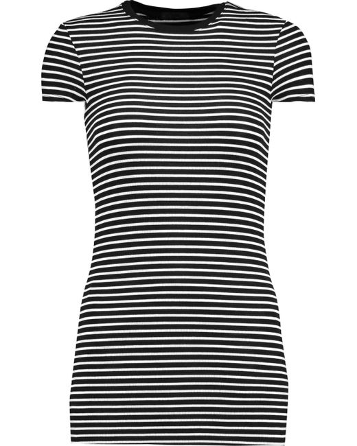 ATM - Black Striped Stretch-micro Modal T-shirt - Lyst