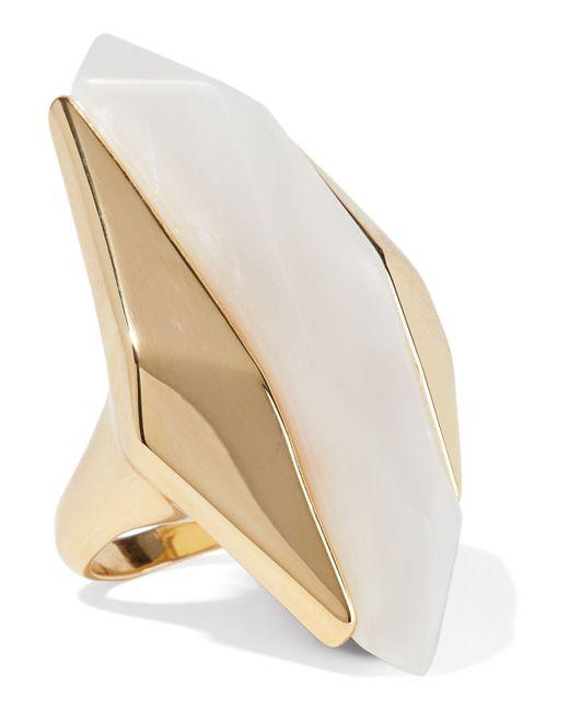 Noir Jewelry - Metallic Light Beam 14-karat Gold-plated Resin Ring - Lyst