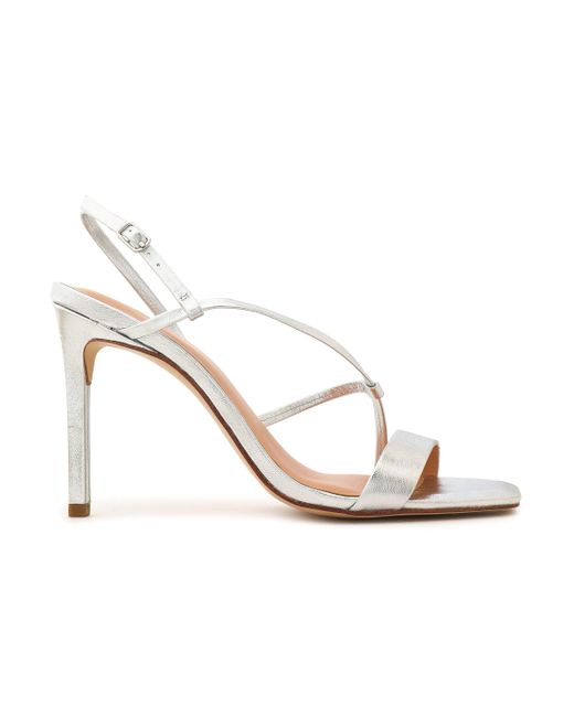 Halston Heritage - Metallic Leather Sandals - Lyst