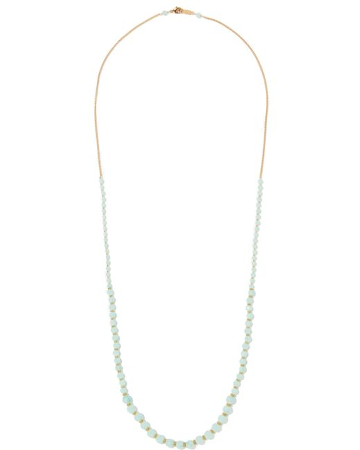 Chan Luu | Multicolor Beaded Gold-tone Necklace Grey Green | Lyst