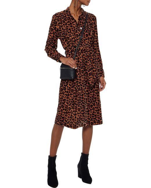 ... Antik Batik - Brown Woman Gart Leopard-print Velvet Shirt Dress Animal  Print - Lyst ... fb2b785af