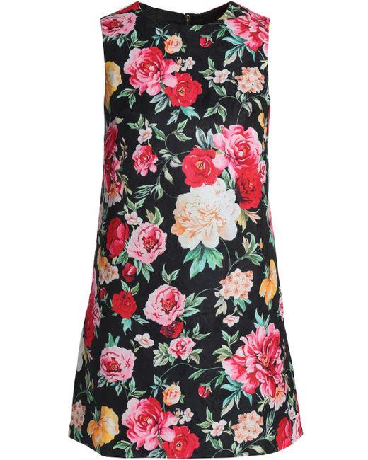 Raoul - Black Floral-jacquard Mini Dress - Lyst