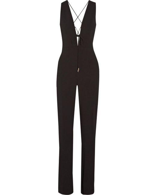 b71cea8d0f42 Cushnie et Ochs - Black Claudia Lace-up Crinkled Stretch-crepe Jumpsuit -  Lyst ...