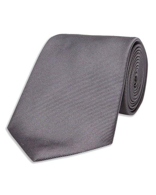 Turnbull & Asser - Gray Dark Grey Twill Silk Tie for Men - Lyst