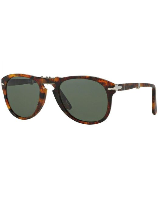 967c146d72 ... Persol - Icons Po0714 108 58 Caffe With Crystal Green Lenses Sunglasses  for Men ...