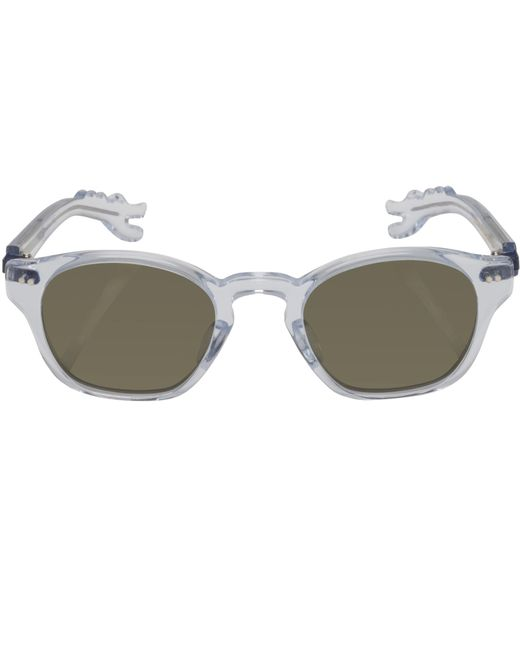 Nackymade | Multicolor Michael Transparent Dino Arm Green Lens Sunglasses | Lyst