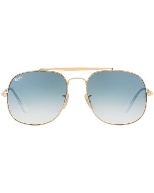 Ray-Ban - Metallic General Rb3561-001 Gold Frames With Sky Blue Lenses  Sunglasses ... 81c29e368f