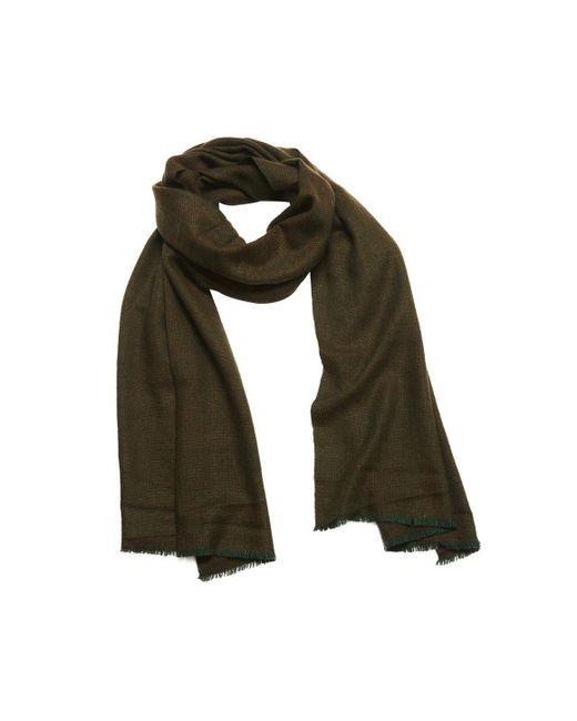 Anderson & Sheppard - Green Loden Birdseye Weave Cashmere Scarf for Men - Lyst