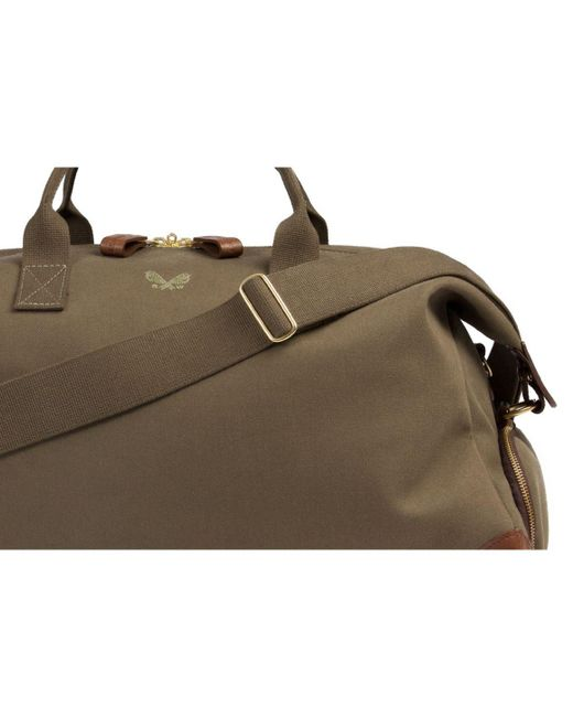 dc4e50eaa385 ... Bennett Winch - Green Olive Canvas And Leather Weekender Bag for Men -  Lyst ...