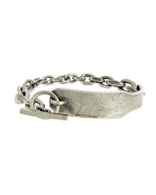Tobias Wistisen - Metallic Silver Ring Plate Bracelet for Men - Lyst