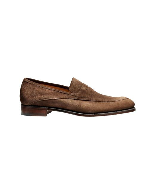 Cheaney Brown Suede Lewisham Penny Loafers in Brown for ...