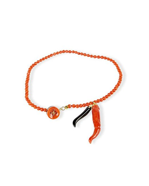 Rubinacci - Multicolor Coral Onyx And Gold Bracelet - Lyst