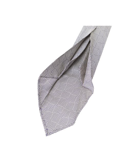 Navy and Grey Geometric Silk Tie Salvatore Piccolo Clearance How Much Buy Cheap Websites Cheap KbhpilVuxc