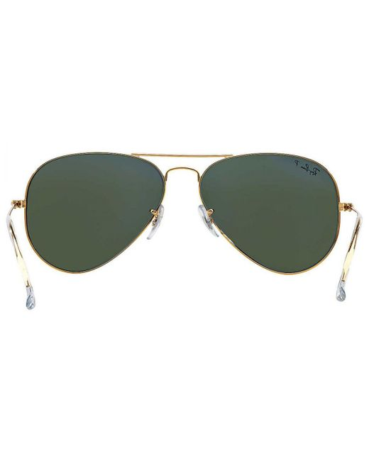 44a6283db0 ... Ray-Ban - Metallic Aviator Classic Rb3025 001 58 Gold With Green  Polarized Lenses ...