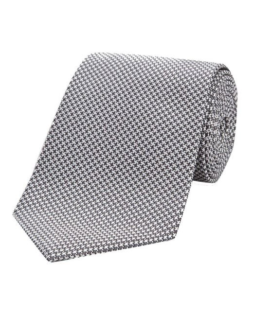 Turnbull & Asser - Gray Grey Houndstooth Silk Tie for Men - Lyst