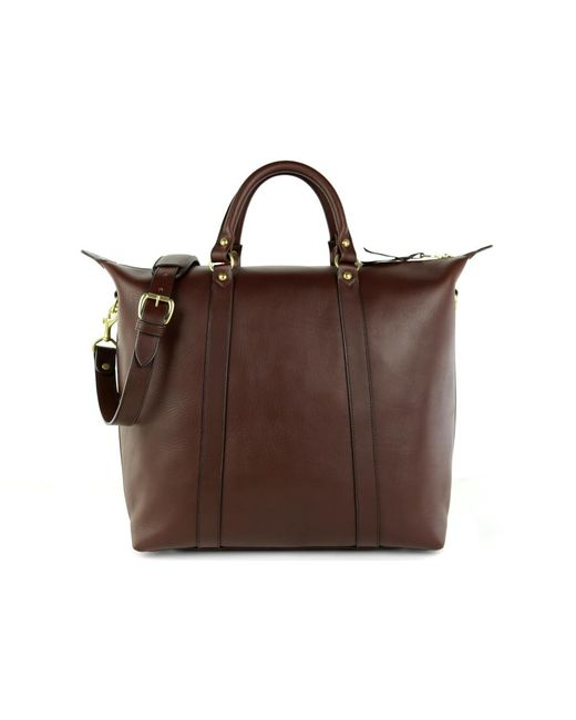 Frank Clegg | Brown Chocolate Hampton Zipper Leather Tote | Lyst