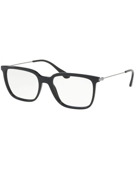 91944d6cfc37 Prada - Black Square Frames With Clear Lenses Eyewear Pr17tv 1ab1o1 for Men  - Lyst ...