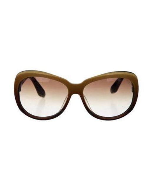 00f337ba744 Dita - Metallic Ombré Oversize Sunglasses Brown - Lyst ...