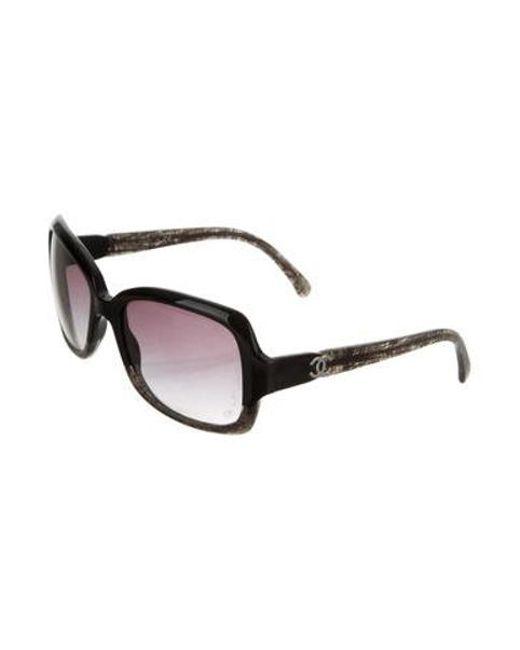 a78c4b92390 ... Chanel - Black Marbled Cc Sunglasses - Lyst ...