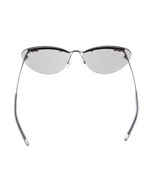 843de20bb5b9 ... Dior - Metallic Rimless Tinted Sunglasses Silver - Lyst