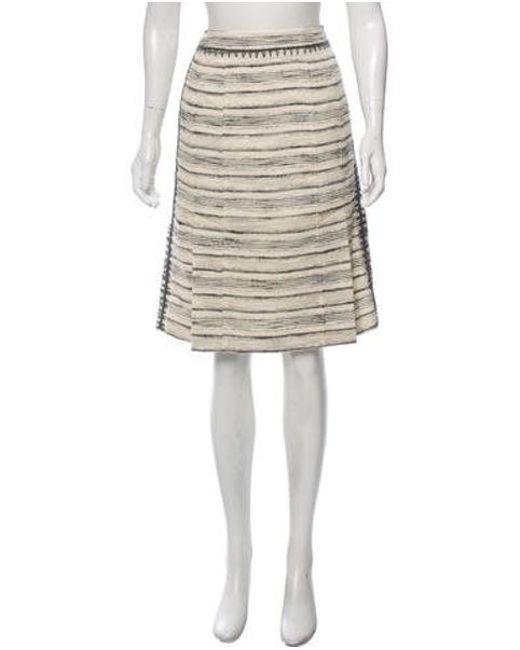 450643587318 Tory Burch - Gray Tweed Knee-length Skirt Grey - Lyst ...