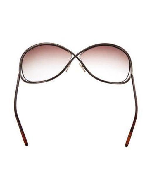 87382653fee4 ... Tom Ford - Metallic Miranda Gradient Sunglasses Bronze - Lyst ...